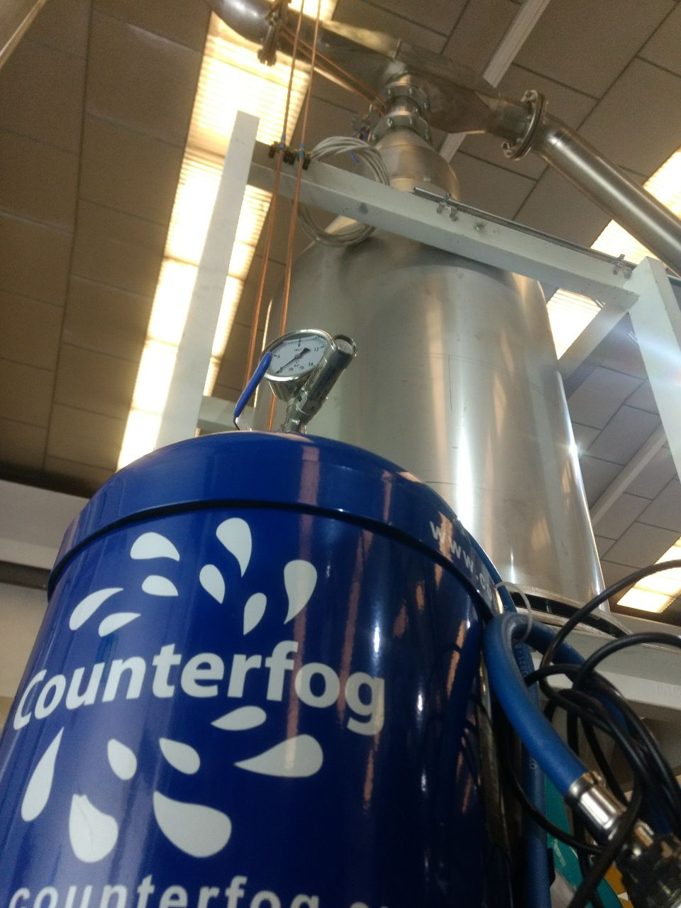 First tests of Counterfog scrubber successful in Fugoroba facilities.