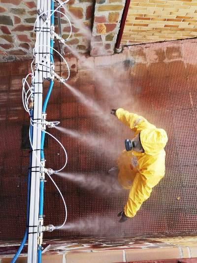 Counterfog disinfection barriers